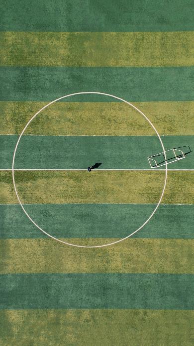 俯拍 运动场 球场 草地