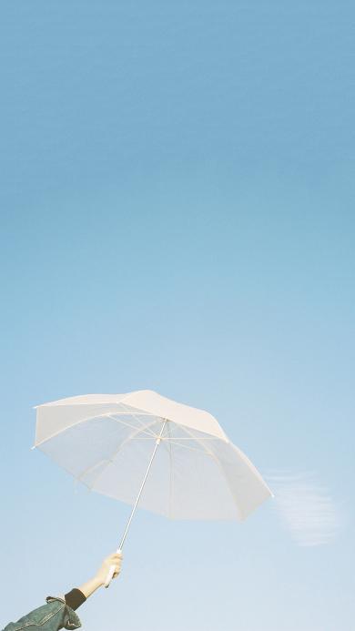 伞 天空 小清新 唯美