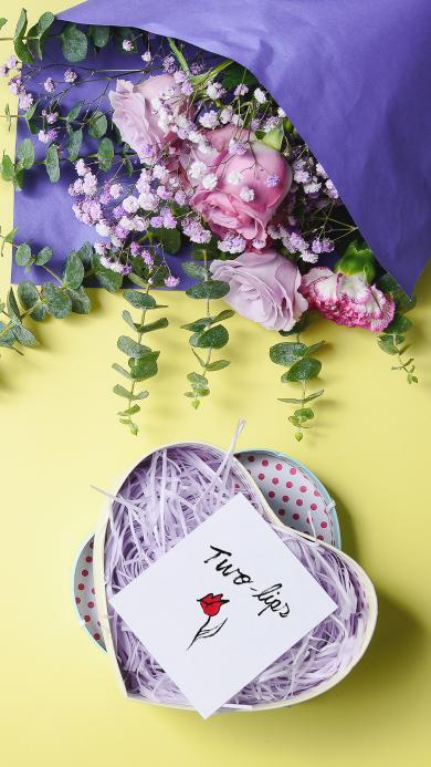 鲜花 静物 礼盒 花束 包扎
