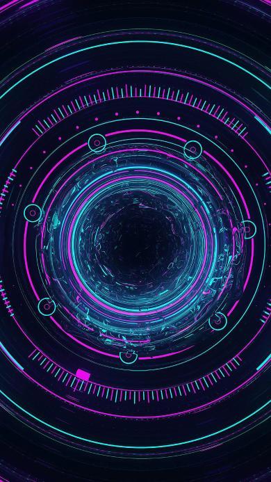 星空 圆圈 色彩 迷洞
