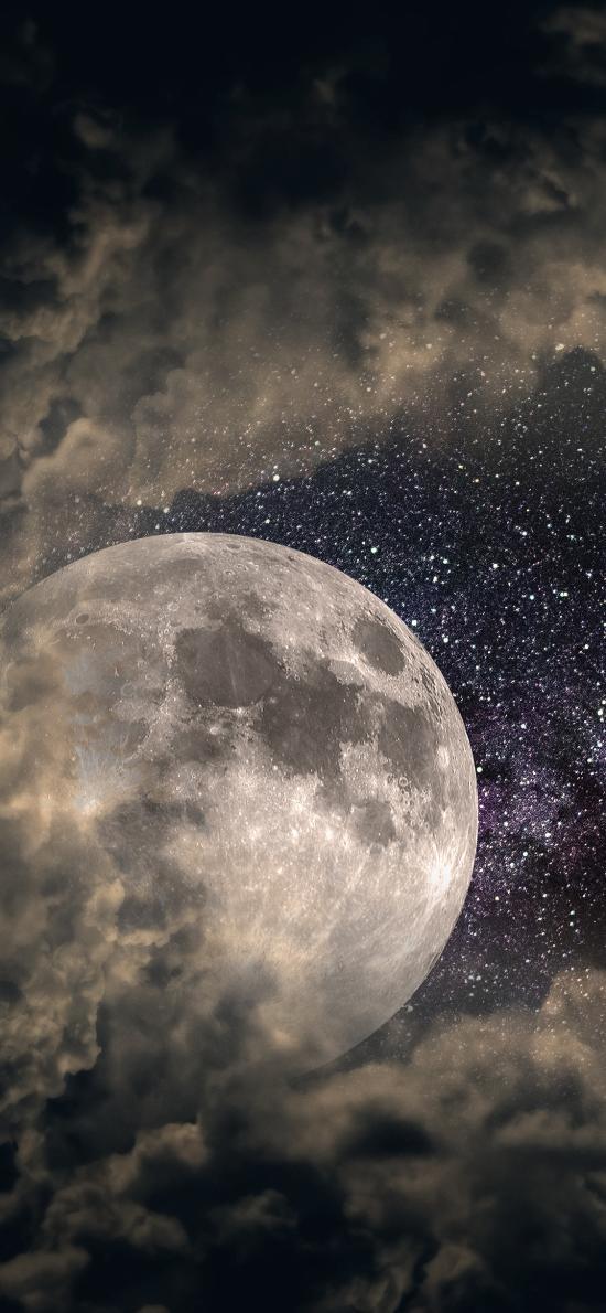 宇宙 月球 星空 太空 唯美 云