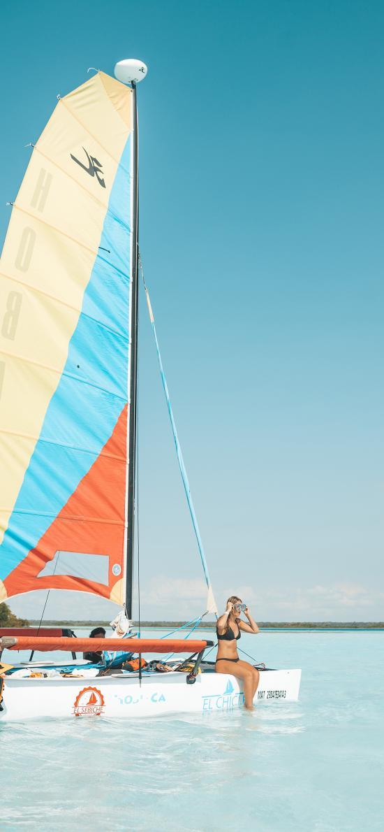 帆船 大海 海面 欧美 浮潜
