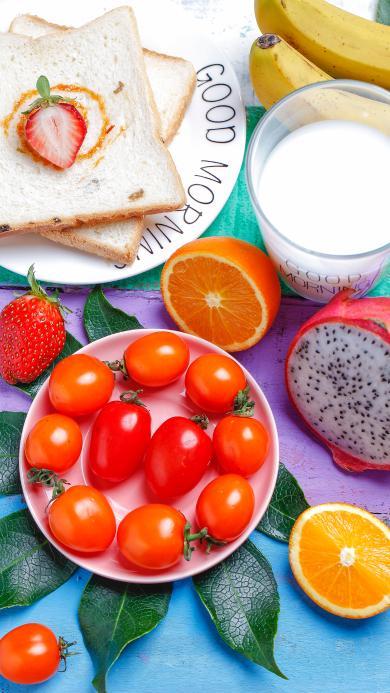 果盘 水果 早餐 营养