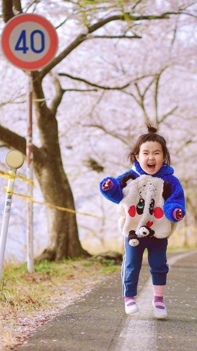 小蛮 小网红 小女孩 儿童 日本 樱花