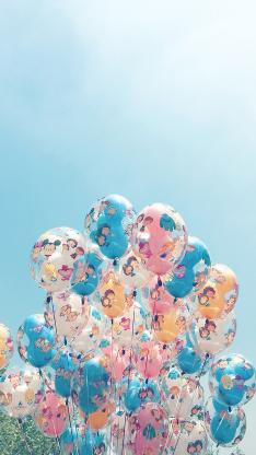 气球 蓝色 童真