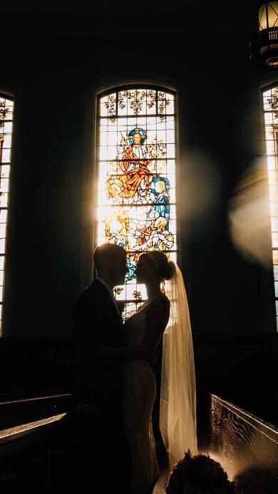欧美 情侣 教堂 结婚 爱情