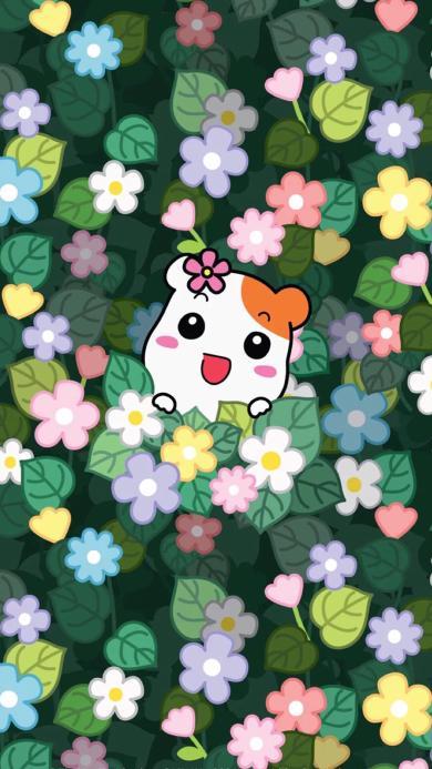 日漫 仓鼠管家 花朵 平铺