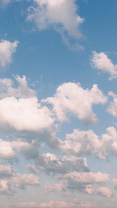太空 蓝天白云 晴天
