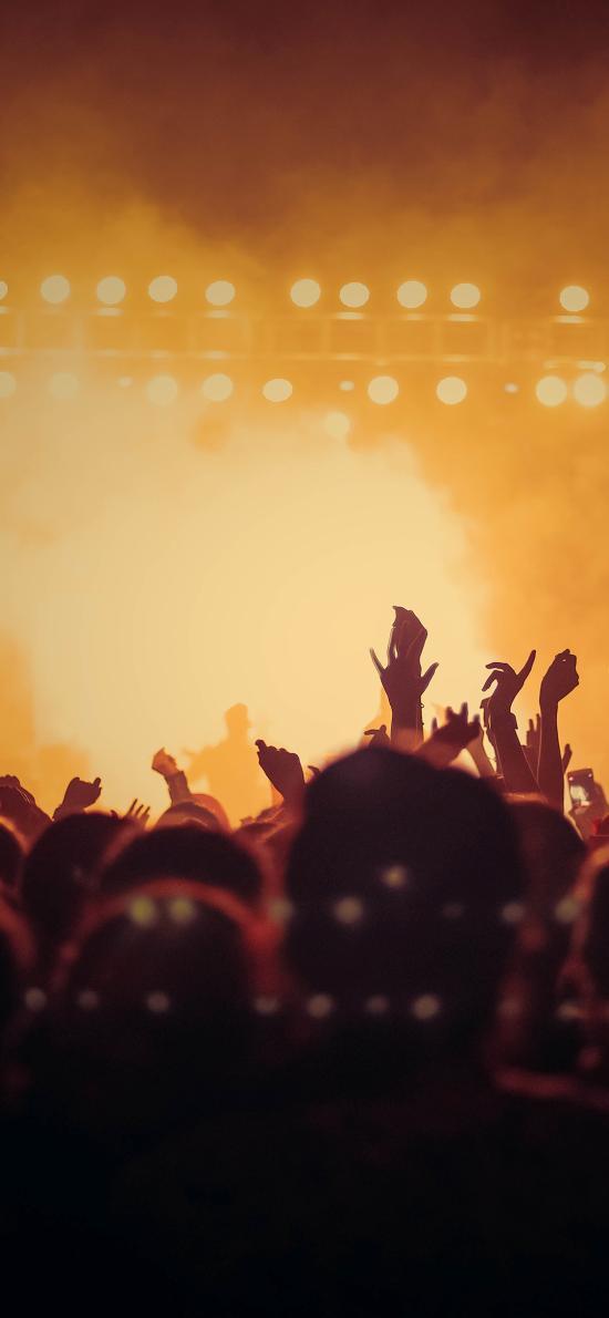 演唱会 人群 粉丝 欢呼