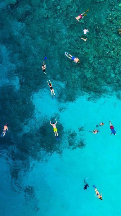 浮潜 大海 蔚蓝 清澈