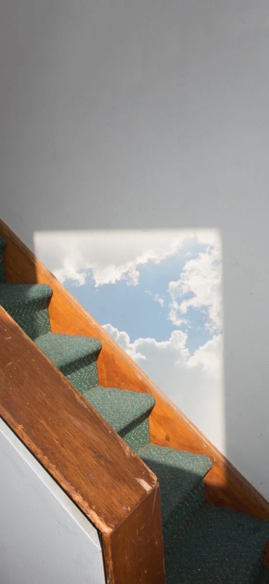 楼梯 天空 影子 唯美