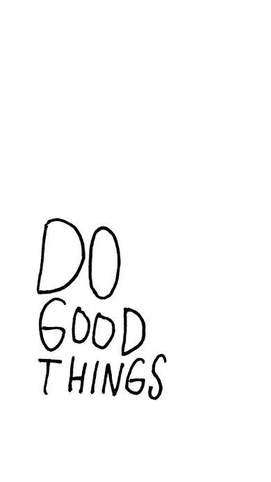 do good thing 做好的事 英文 黑白