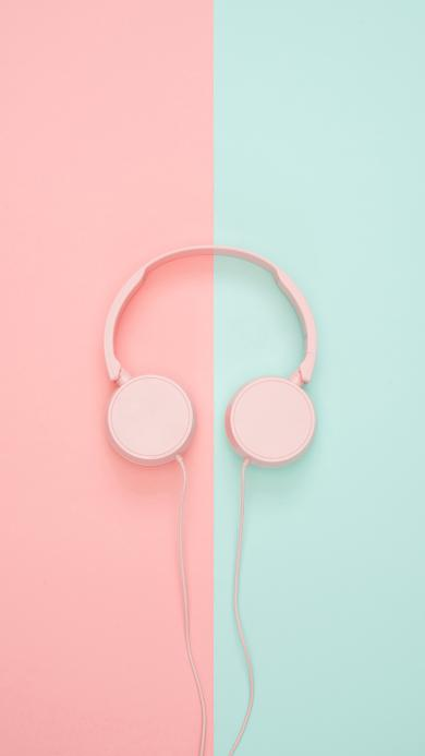 耳机 色彩 温馨 听歌