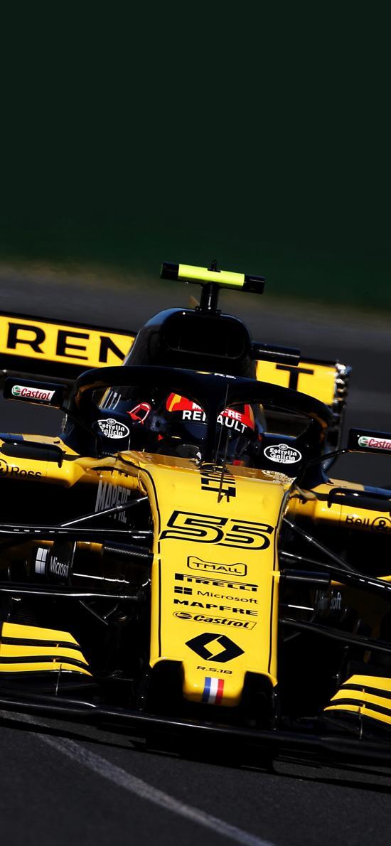 F1賽車 炫酷 速度 賽道 法拉利 比賽 黃色