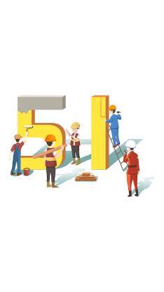 五一劳动节 51 插画 建筑工人