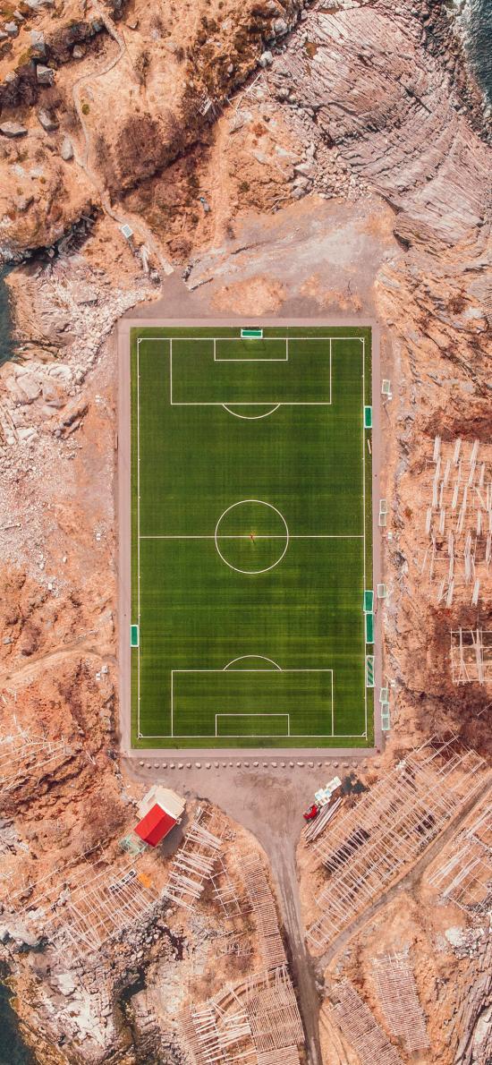 足球场 航拍 岛屿 运动