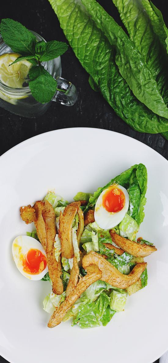 简餐 营养 健康 蔬菜 鸡蛋