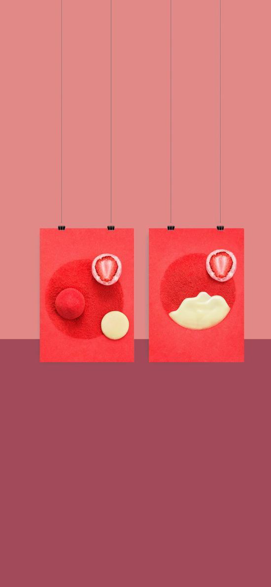 甜品 零食 巧克力 夹心 冻干草莓