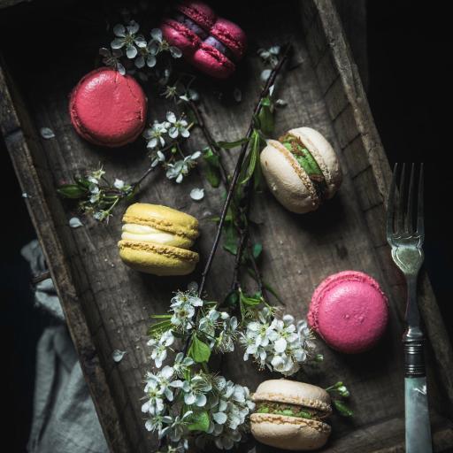 烘焙 甜品 法国 马卡龙 桃花