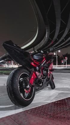摩托车 重型机车 室外 炫酷