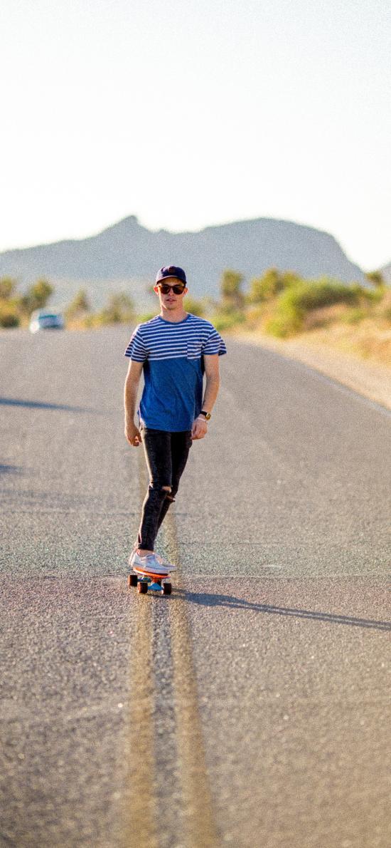 男子 滑板 阳光 帅气