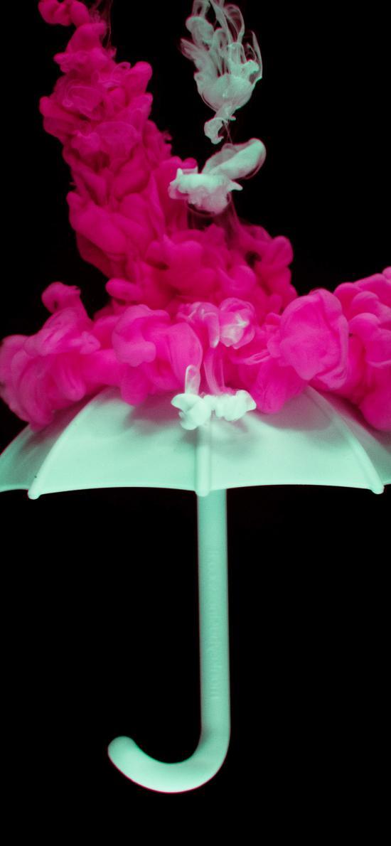伞 色彩 创意 粉末