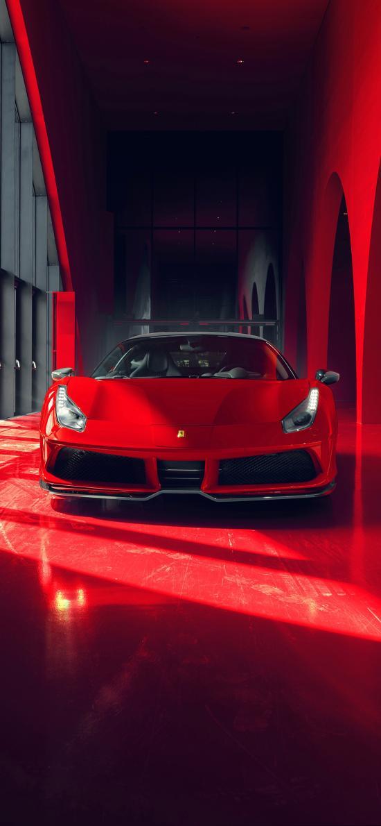 法拉利 超级跑车 炫酷 红色