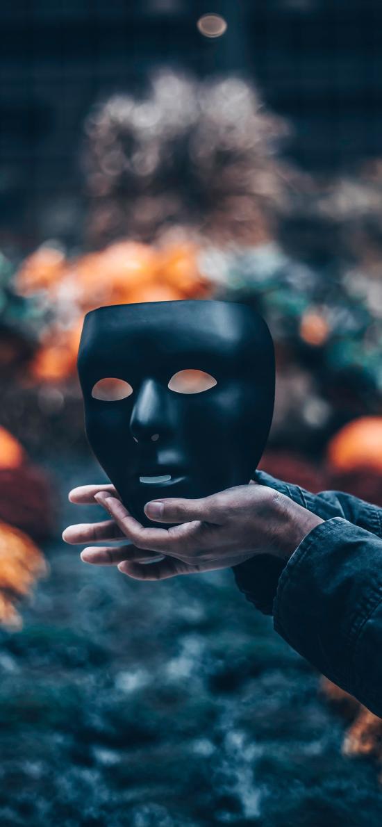 面具 手 黑色