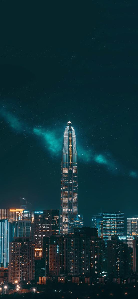 深圳 城市 夜景 建筑 繁华 都市