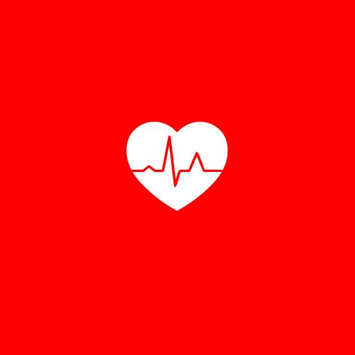 心跳 心电图 爱心 红色