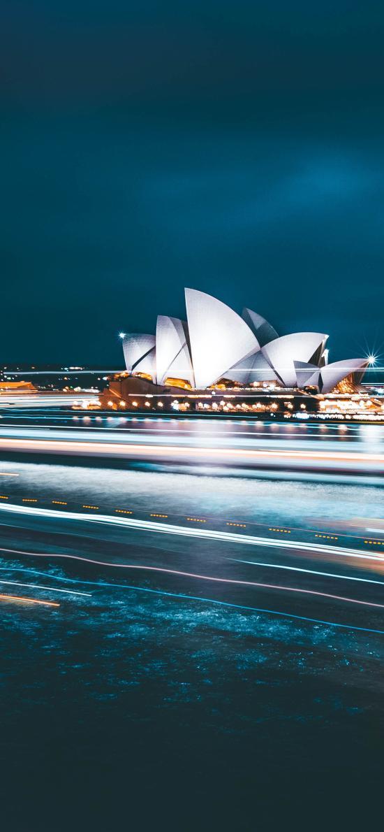 悉尼歌剧院 建筑 标志 光线