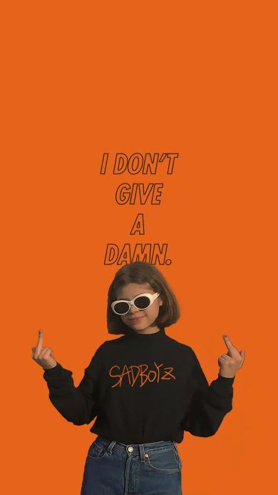 欧美 女孩 I don't give a damn