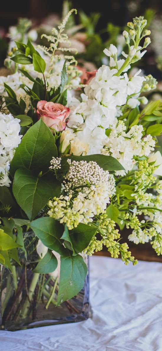 插花 鲜花 粉玫瑰 绽放