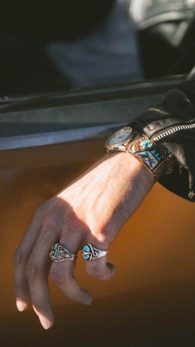 手部 戒指 手表 男士