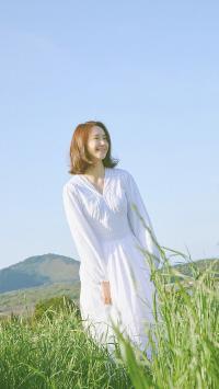 林允儿 韩国 演员 明星 歌手 艺人 山坡