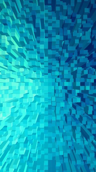 立体 空间 抽象 渐变 蓝色