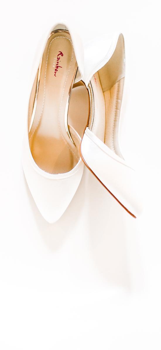 鞋子 高跟鞋 皮鞋 白色