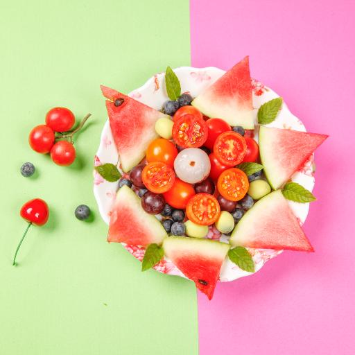 水果拼盘 西瓜 蓝莓 圣女果