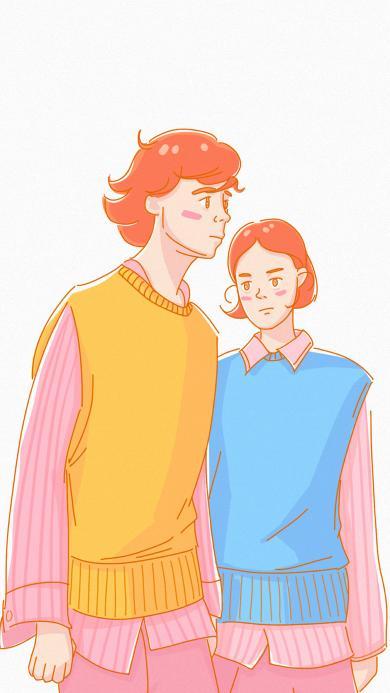 卡通 情侣 情侣装 爱情