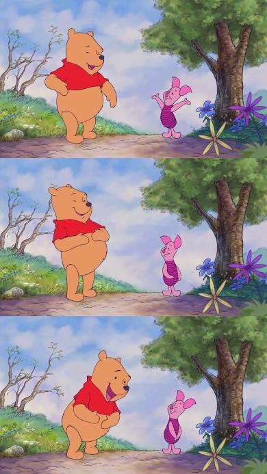 迪士尼 动画 小熊维尼 小猪