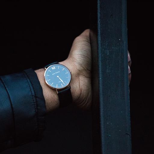 手表 商务  黑色 特写