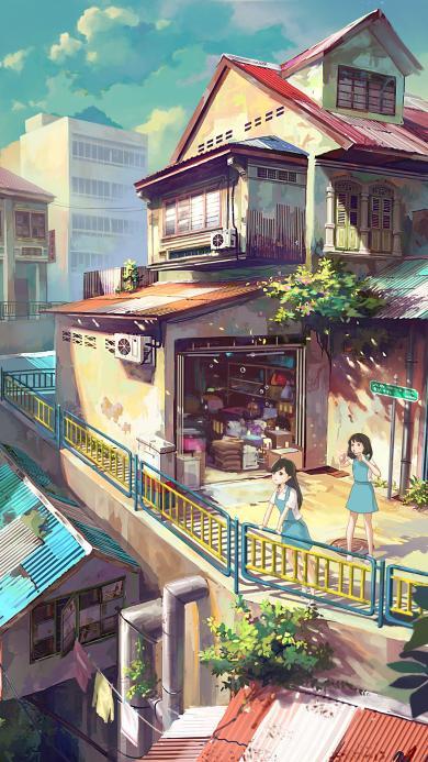 漫画 场景 日本 建筑 房屋