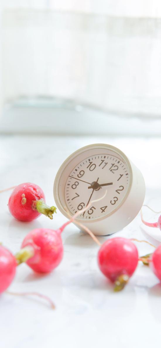 樱桃萝卜 小型 蔬菜 食材 闹钟