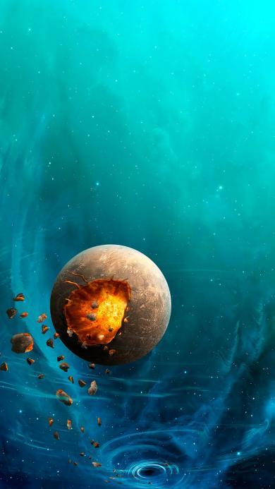 宇宙 蓝色 天文 星球 神秘 火
