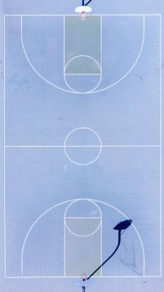 操场 篮球场 球框