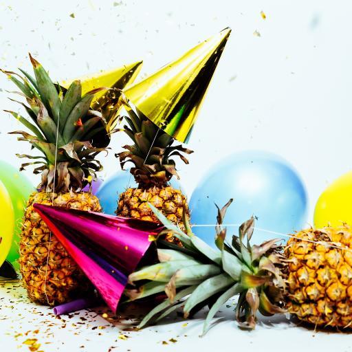 喜庆 庆祝 气球 菠萝 水果