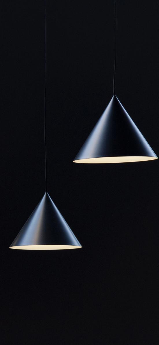 灯具 吊饰 圆锥 三角 家具