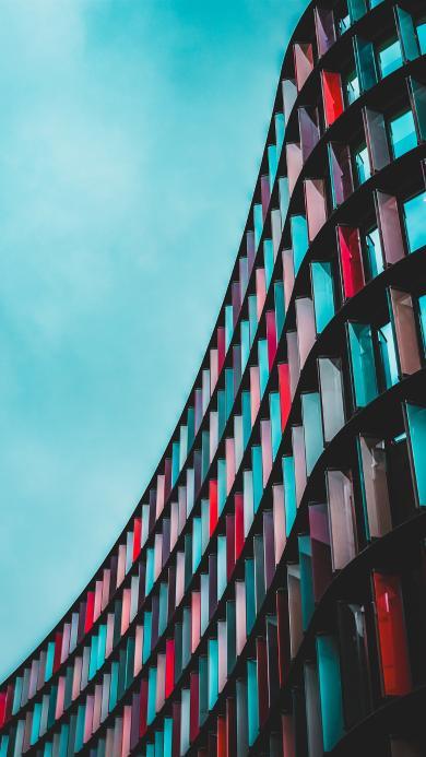 建筑 造型 窗户 玻璃 天空