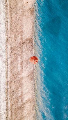 沙滩 海浪 遮阳伞 大海 海浪