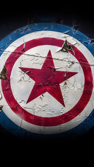 美国队长 漫威 电影 盾牌 超级英雄 五角星